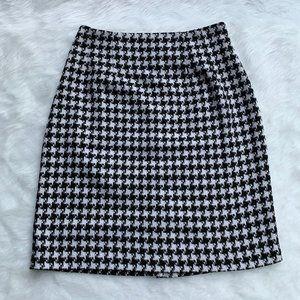 J. G. Hook Houndstooth Pencil Skirt